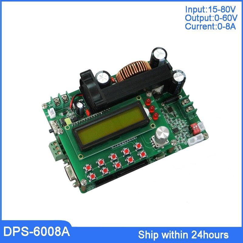 60 V 8A DC Numérique Programmable abaisseur Module Convertisseur/DC Buck Converter avec 485 232 Port/ haute Puissance Commutateur Boost Converter