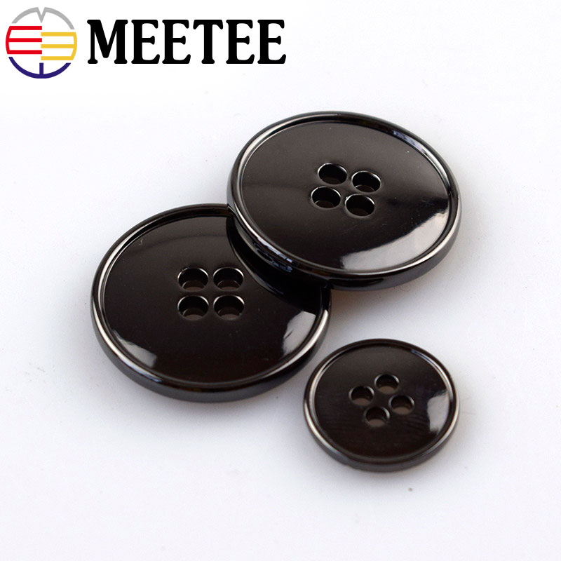 Free Shipping15mm 22.5 Mm Metal Button Four Holes Thin The Lettering Suit Buttons Black Coat Buttons E4-8