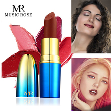 MUSIC ROSE New Sale 24colors Bullet Matte Lipstick Korean Fashion Women Sexy Red Waterproof Moisturzer Long-lasting Lip