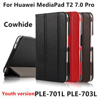 Case Cowhide For Huawei MediaPad T2 7 0 Pro Genuine Leather Protective Case For HUAWEI Youth