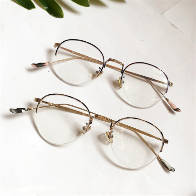 4bfbb0ad30 Vazrobe Round Glasses Men Women Small Eyeglasses Frames Man Female Semi  Rimless Vintage Prescription Spectacles Brand