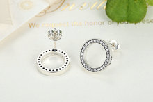 925 Sterling Silver Circle Shaped Stud Earrings