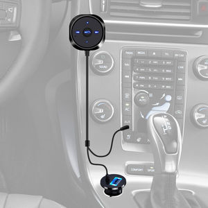 Image 2 - Bluetooth 4.0 Wireless Music Receiver 3.5mm Adapter Handsfree Car AUX Speaker bluetooth car kit  2.1A USB Car Charger