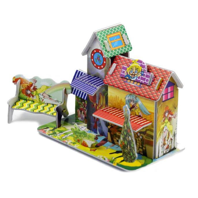 T0395 3D мультфильм/анимация головоломки Паззлы DIY Бумага модель multi-стили дети креативный подарок детские развивающие игрушки Лидер продаж