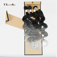 Synthetic Hair Bundles With Closure Brazilian Body Wave 3 Bundles With Closure Free Lace Closure Natural