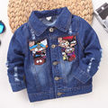 Baby Girl Denim jacket for girls boys Long Sleeve winter Denim Coat for girl Jean Jackets Coat Cardigan Cartoon Tops Kids jacket