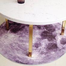 3D Planet printing Round Carpet Moon pattern Mat Anti-slip Rugs 80cm/100cm/120cm Chair sofa Floor Mat for Kid Room Home Decor