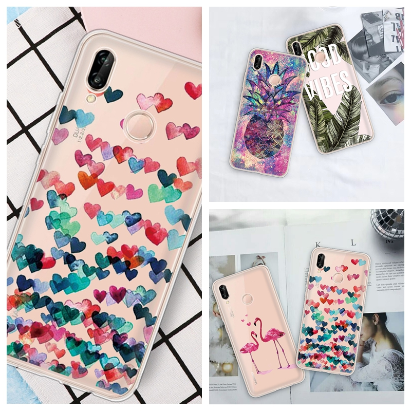 Silicone Patterned <font><b>Case</b></font> For <font><b>Huawei</b></font> P30 <font><b>P20</b></font> <font><b>Lite</b></font> <font><b>Mate</b></font> 10 Pro P30 Pro Cover For <font><b>Huawei</b></font> Honor 10 <font><b>Lite</b></font> Soft TPU Heart <font><b>Cases</b></font> image