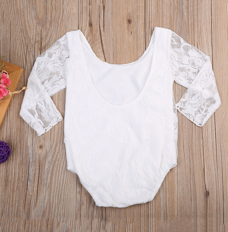 White Lace One Piece Suit Newborn Baby Girl Lace Floral Rompers Outfit Jumpsuit Clothes Summer Girls Romper