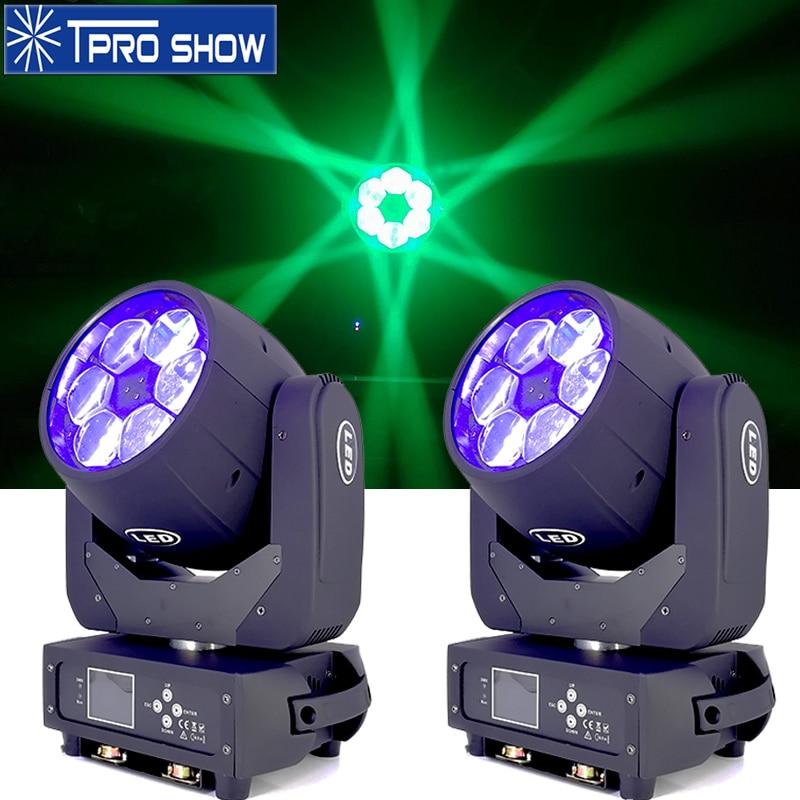 Haz en forma de Lira 6x40W Ojo de abeja luz con cabezal móvil zoom de iluminación para escenario equipo de DJ Control Dmx RGBW colores LED lavado para fiesta de boda 40000LM potente faro USB recargable 7 LED faro delantero lámpara impermeable cabeza linterna