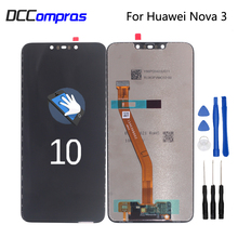 цена на Original For Huawei Nova 3 LCD Display Touch Screen Digitizer Phone Parts For Huawei Nova 3 Screen LCD Display Free Tools