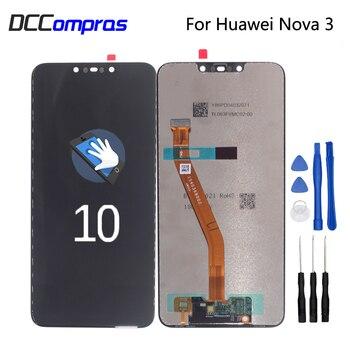 Original For Huawei Nova 3 LCD Display Touch Screen Digitizer Phone Parts For Huawei Nova 3 Screen LCD Display Free Tools original lcd screen replacememt for chuwi hi10 cw1526 lcd screen display free shipping