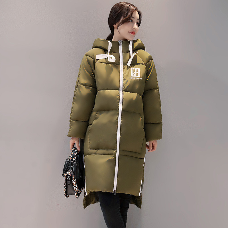 Letter Print Fashion Padded Hooded Warm Jacket Women Thick Winter Coat Parka For Female Outerwear Wadded Chaqueta Mujer TT3493 lstu winter jacket women 2017 fashion cotton padded hooded jacket female wadded jacket outerwear winter coat women