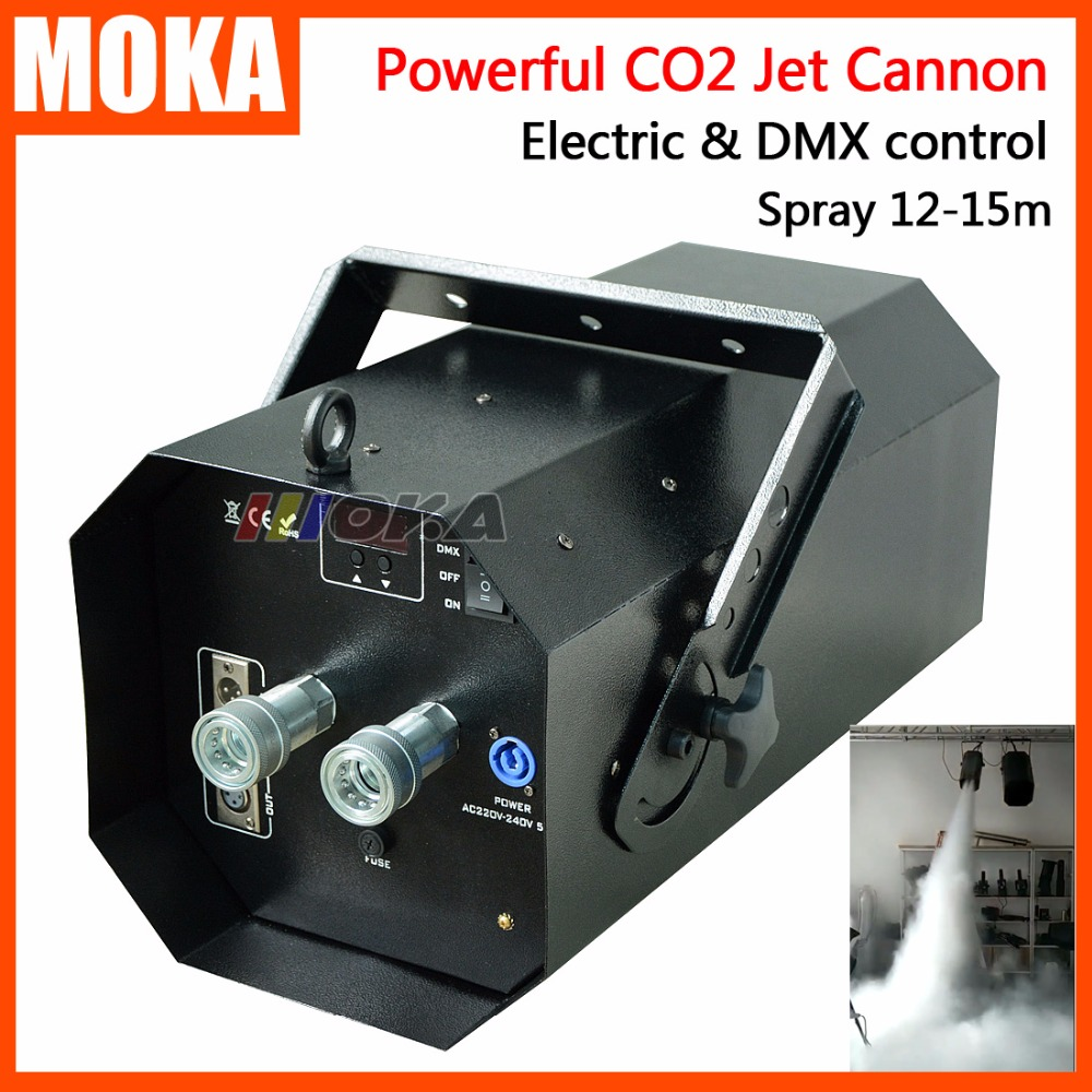 1 Pcs/lot New Coming magic fx co2 jet machine powerful dmx co2 cannon stage effect co2 jets for nightclub with 6m Resin hose 200w co2 jet machine with 6m gas hose dmx control for party disco dj event show