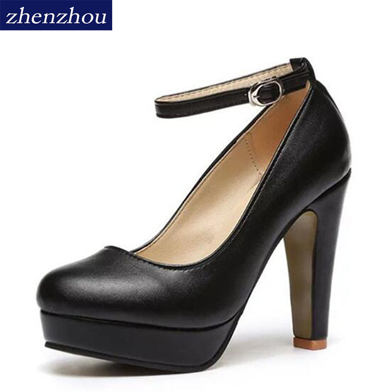 Free shipping 2017 Spring summer Pumps Women's shoe new European  fashion high heels shoes waterproof bandage thick with 10cm siketu 2017 free shipping spring and autumn high heels shoes fashion women shoes wedding shoes thick sandalsl pumps g042
