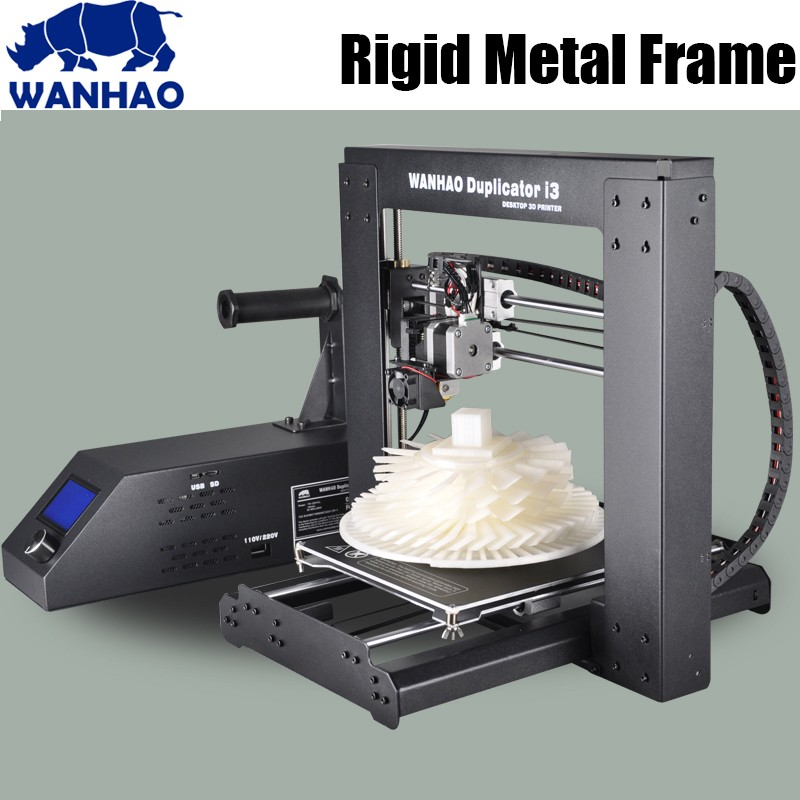WANHAO Duplicator  i3 V2.1 DIY 3d Printer,Updated High Quality Precision diy kit,metal frame reprap kit with free Filaments high precision wanhao i3 printer with mk10 extruder for 1 75mm pla and abs filaments