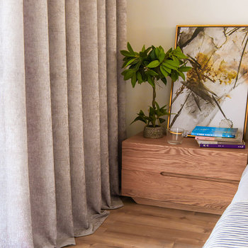Cortinas para sala comedor dormitorio escandinavo moderno espesado ...