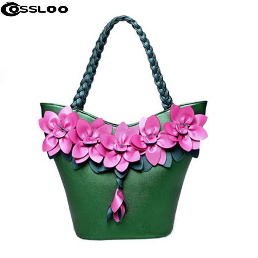 COSSLOO New women bag chinese national single messenger bags flowers bags women fashion luxury handbags women bags designer недорго, оригинальная цена