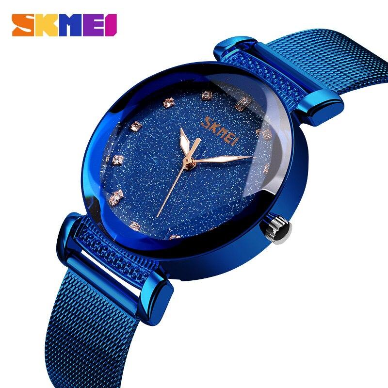 Skmei femmes montres à quartz ciel étoilé brillamment dames montres-bracelets étanche mode Montre Femme 2019 Luxe cadeau pour Femme