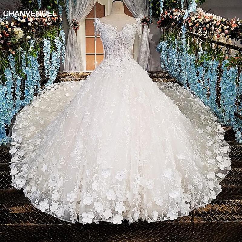 LS00174 Πολυτελές νυφικό για νυφικό beaded - Γαμήλια φορέματα - Φωτογραφία 1
