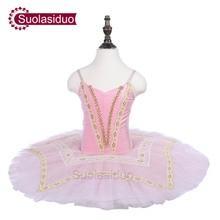 Girls Pink Ballet Tutu The Sleeping Beauty Performance Stage Wear Children Dance Competition Costumes Women Skirt