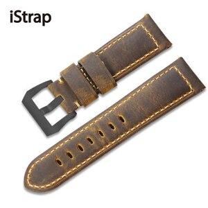 Image 3 - IStrap ייחודי 22mm 24mm 26mm שעון רצועת אמיתי עגל עור צמיד שעון להקות Assolutamente רצועת השעון חום עבור חלונית ראי