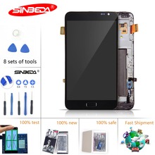 купить Sinbeda Super Amoled LCD For Samsung Galaxy Note N7000 i9220 Touch Screen Digitizer Glass with Frame Assembly LCD Tela дешево