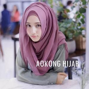 Image 3 - 10pcs/lot women solid maxi scarves hijab stole oversize islamic shawls foulard head wraps soft long muslim viscose plain hijabs