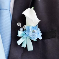 Callas Best Man Boutonniere Branches Mix colors Corsage Pin Groom anemone Groomsman Party Prom Wedding Flowers Wedding