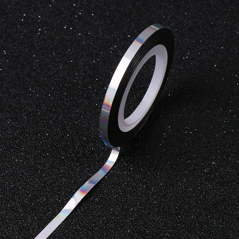 3 Pcs Holo Nail Art Laser Striping Tape Line Rainbow Glitter 3mm Silver Transfer Foils Diy Beauty Tool 1 Roll In Stickers Decals From