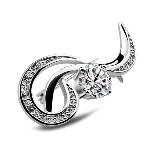 Jewelry & Accessories Brooches Fashion Women Silver Brooches,;popular Jewelry;solid Design ; 925 Women Sterling Silver Brooch; Vintage Style