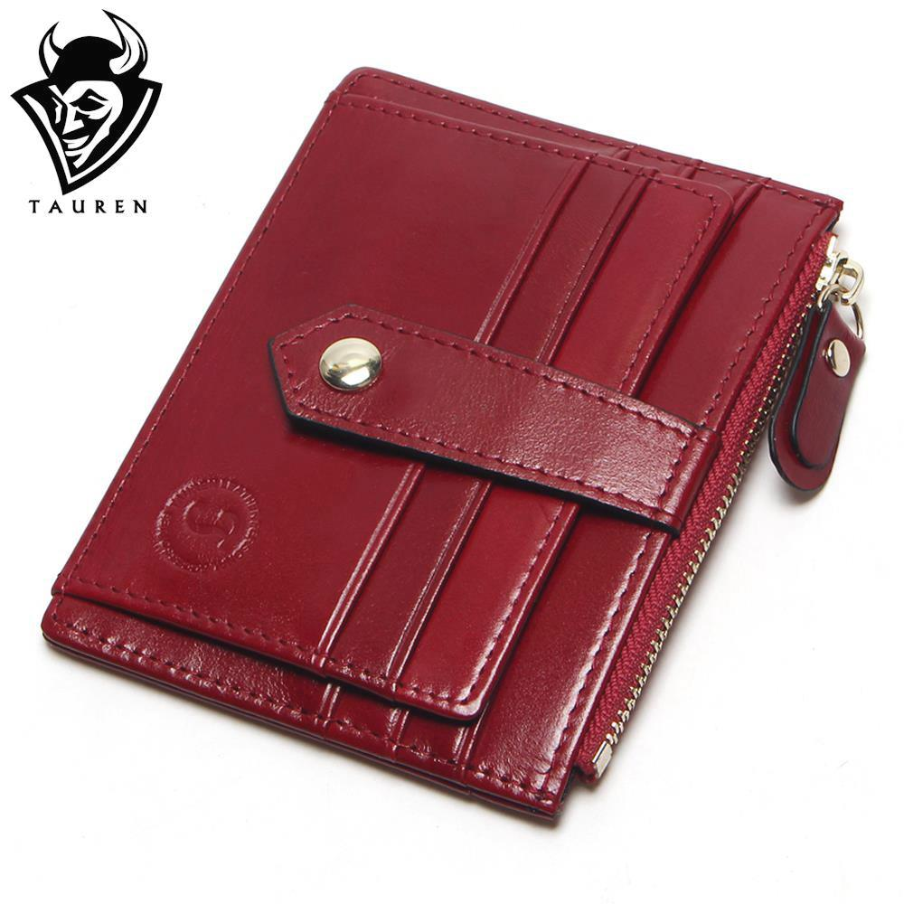 TAUREN 9 Colors First Layer Of Leather Card Wallet Women s Purse Card Holder Bag Oil