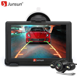 Junsun D100S 7 Inch Car 3D Vehicle GPS Navigation Mointor Bluetooth Rearview Camera Free Map Touch Screen Cam