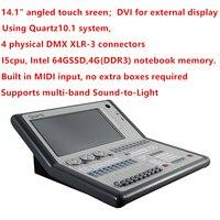 Titan 10,0/10,1 система кварцевые консоли с DMX 512 контроллер твердый контейнер для вечерние свадебные профессиональные световые шоу