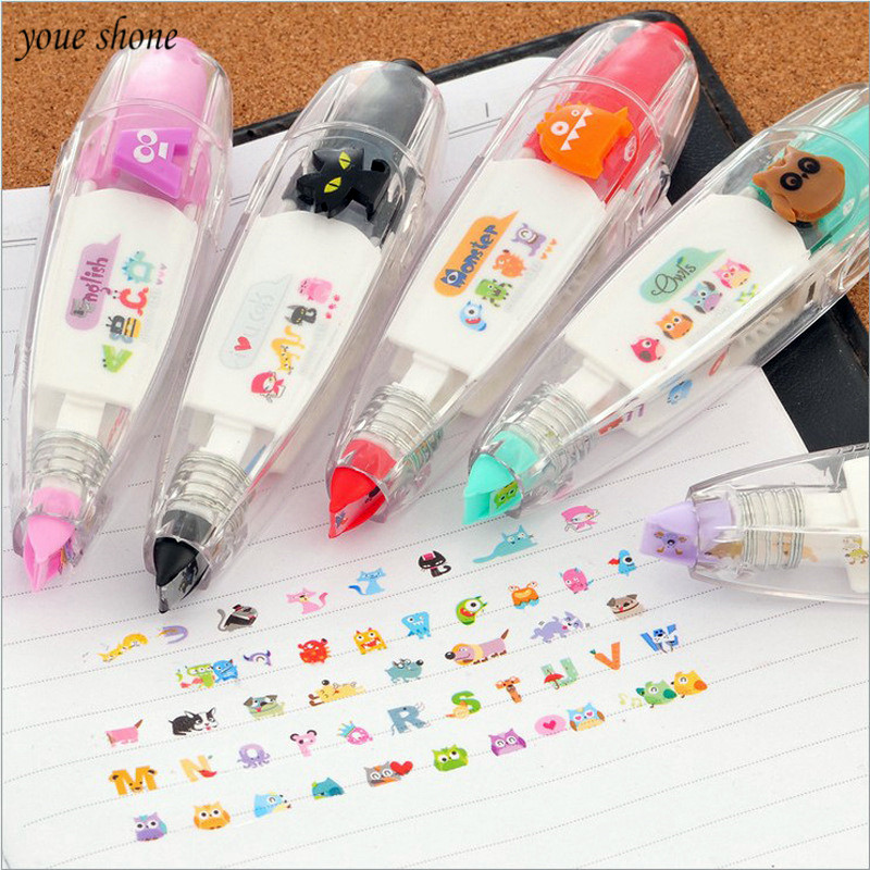 YOUE SHONE 1Pcs/lot Features Stationery Push Lace Correction With Cute Modified With Animal Letter Pattern