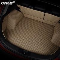 KADULEE Lederen Kofferbak Mat Voor Toyota Prado 150 Land Cruieser 100/200 RAV 4 Custom Cargo Liner Auto Accessoires Boot Tapijten