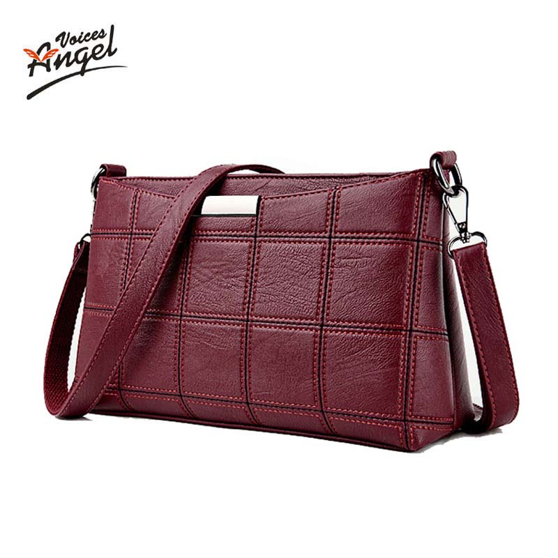 Angel Voices Brand 2017 Fashion Thread Crossbody Bags Plaid PU Leather Bags Women Handbags Designer Shoulder Bags Ladies Sac dizhige brand 2017 fashion thread crossbody bags plaid pu leather bags women handbags designer shoulder bags ladies sac spring