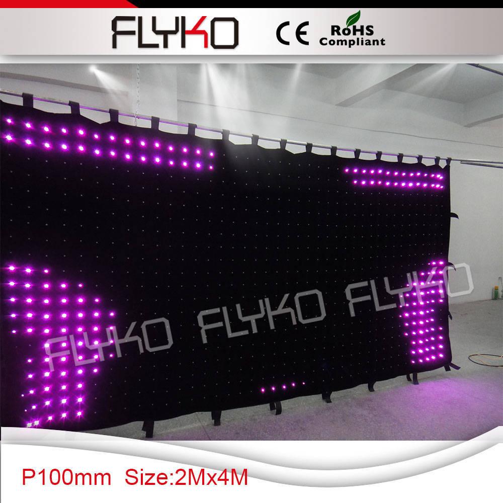 2x4m led light stage fabric backdrop p10 version