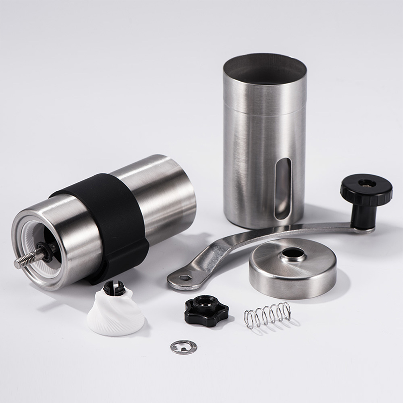Mini Manual Ceramic Coffee Grinder in Stainless Steel 2