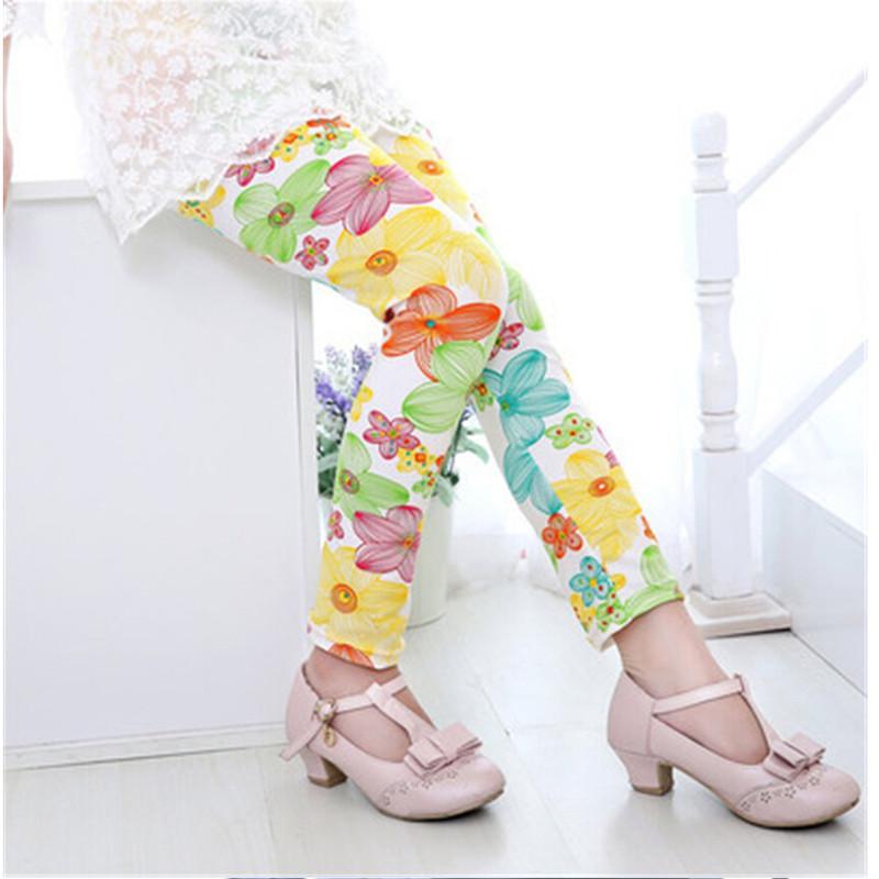 New Style Spring Autumn Children Leggings Flower Butterfly girls pants kids legging 10
