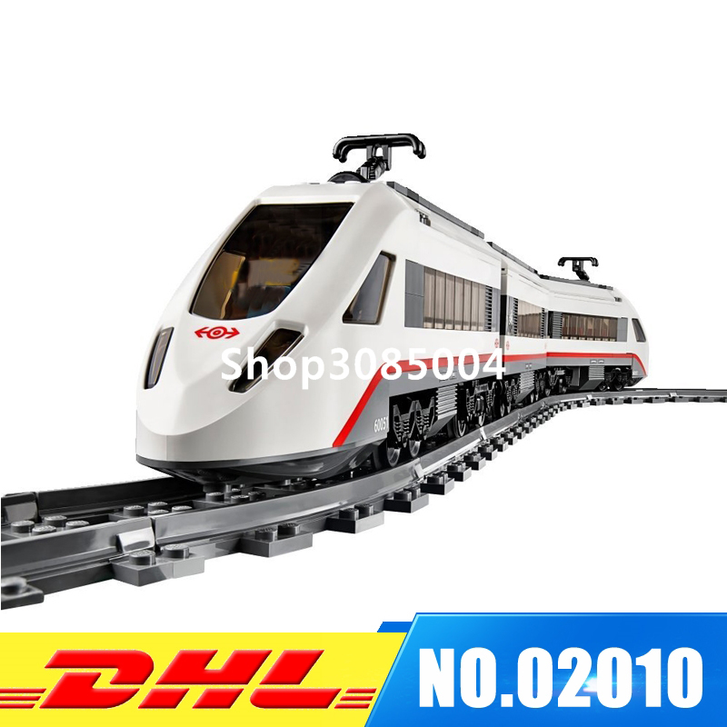IN Stock LEPIN 02010 Series The High-speed Passenger Train Building Remote-control Trucks Set Blocks Bricks Toys 60051 lepin 02010 city trains high speed passenger train model building blocks enlighten diy figure toys for children compatible 60051