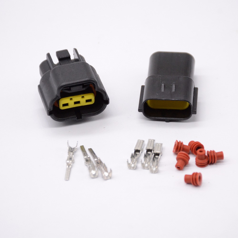 1 set 3 Pin Way Waterproof Wire Connector Plug Car Auto Sealed Electrical Set Car Truck connectors