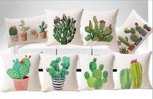 Freies verschiffen/wasser pflanze kaktus baumwolle kissenbezug ist rein und frisch und kissen zum anlehnen 43*43 Keine Inneren