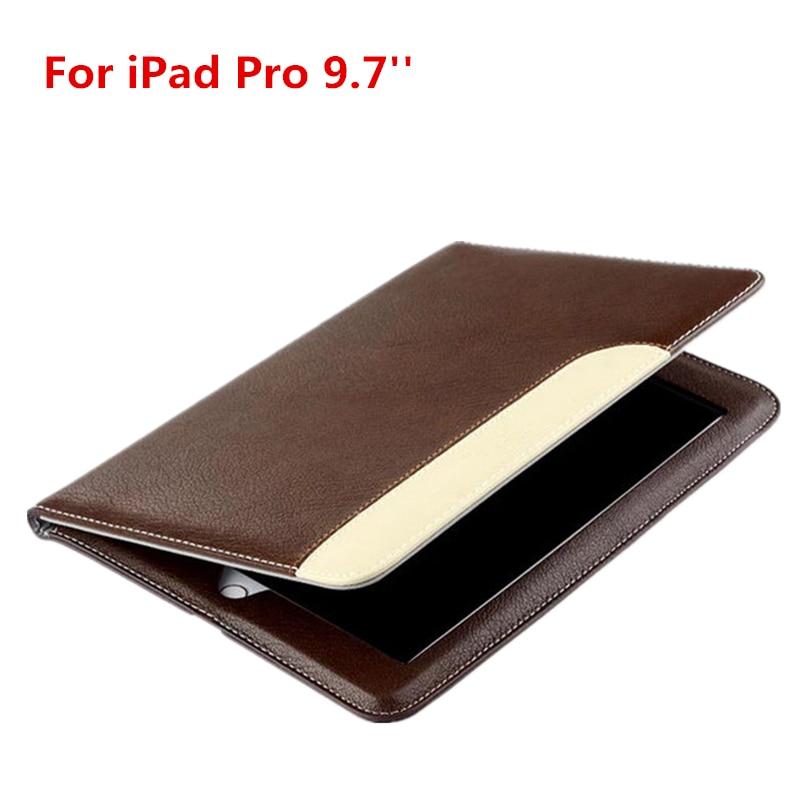 Dir-Maos Für iPad Pro 9,7 '' Fall Luxus Leder Smart Cover Weiche Dünne Haut Ständer Halter Hand Gürtel Tragetasche Mode