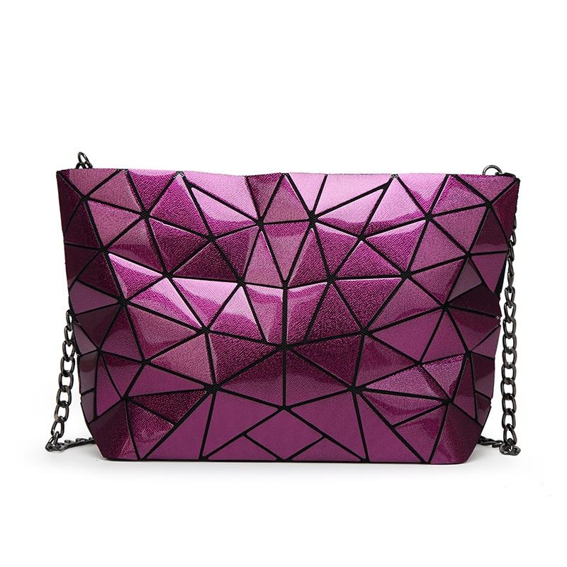Women Chain Baobao Geometry Diamond Lattice Folding Clutch Bag Female Design Messenger Bag Femme Shoulder