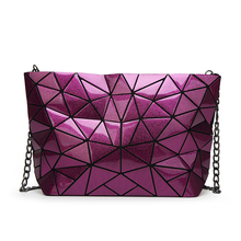 Women Chain Baobao Geometry Diamond Lattice Folding Clutch Bag Female Design Messenger Bag Femme Shoulder Bags Bao Bao Bolsa