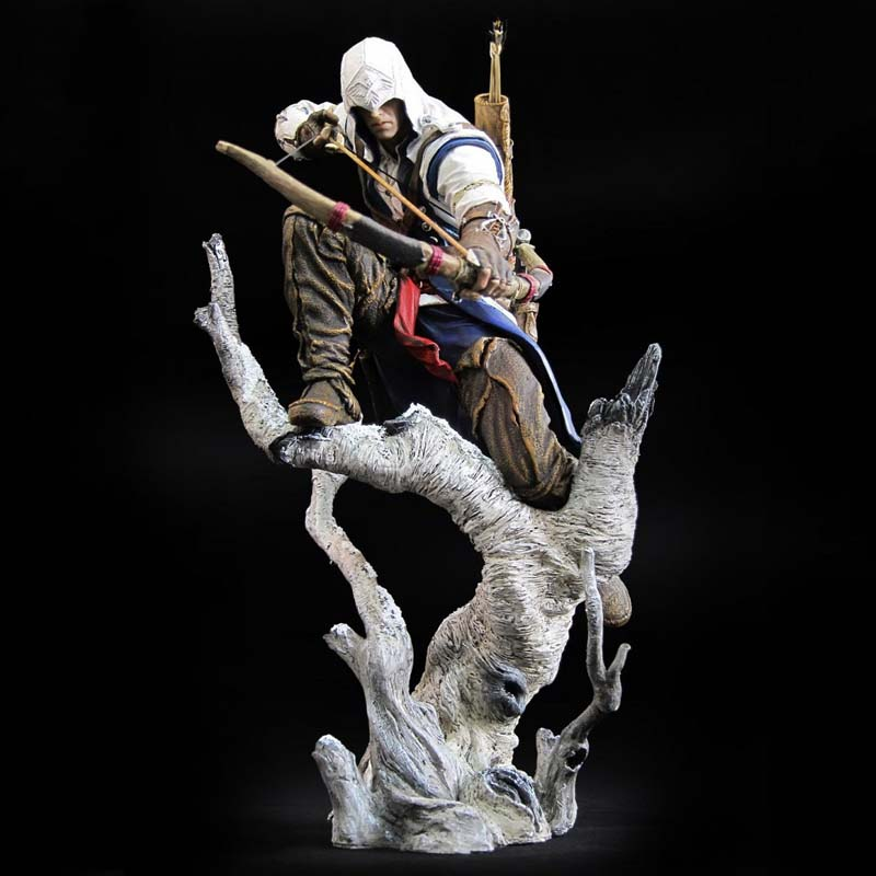 Elsadou 26cm The Hunter Assassin's Creed III Action Figure Assassin s Creed PVC Doll 2018 New Toys Edward Canvey With Box neca assassins creed 3 connor the hunter figurine classic game pvc action figures juguetes doll kids hot toys for children men