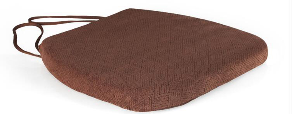 plaid seat cushion slow rebound memory foam rounded corner chair cushions with tie thicken cushions for