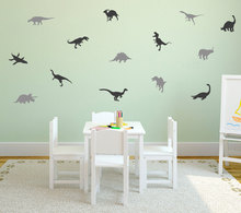 Узор с милыми маленькими набор динозавров настенные наклейки с рисунком домашняя детская Спальня красивый декор съемные настенные наклейк...