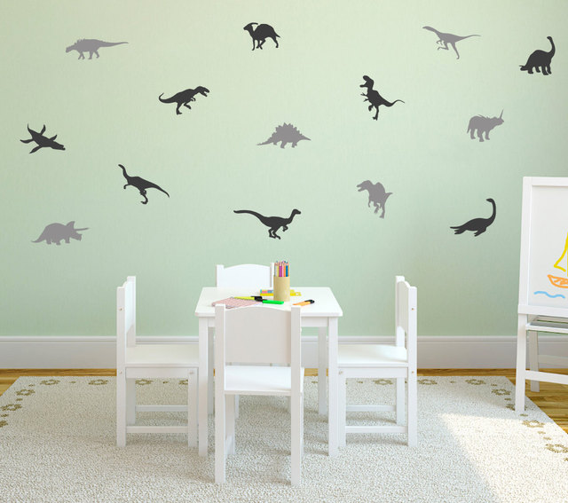 Charming Little Cute Dinosaurs Set Pattern Wall Decals Home Nursery Bedroom  Beautiful Decor Removable Wall Stickers Vinyl